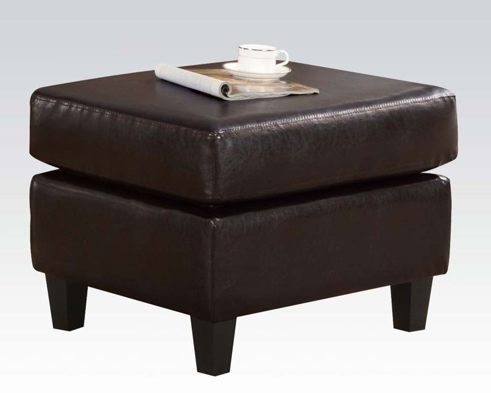 Enjoyable Acme Furniture Ottoman W 2 Pillows Vogue Chocolate Ac05909 Bralicious Painted Fabric Chair Ideas Braliciousco