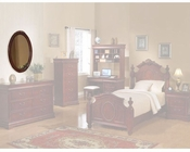 Acme Furniture Oval Mirror in Cherry AC11878