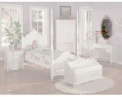 Acme Furniture Oval Mirror in Pearl White AC01014