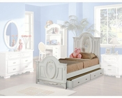 Acme Furniture Panel Bed in White 01680TBED