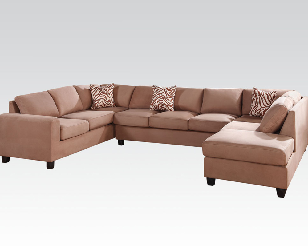 Acme Furniture Reversible Sectional Sofa Dannis Saddle By