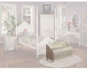 Acme Furniture Storage Bench in Pearl White AC01021