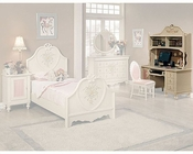 Acme Furniture Student Desk with Hutch in Cream AC02191-2