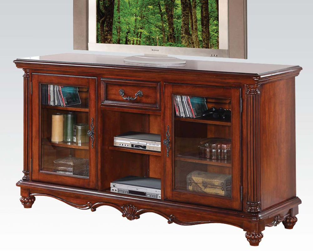 Acme furniture tv stand in traditional style ac91495 Home furniture tv stands
