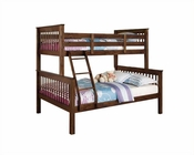 Acme Furniture Twin / Full Bunk Bed in Walnut AC02417
