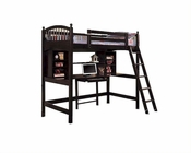 Acme Furniture Twin Loft Bed with Workstation in Cappuccino AC02478