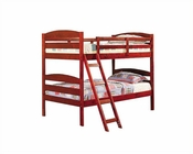 Acme Furniture Twin over Twin Bunk Bed in Cherry AC02540