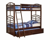 Acme Furniture Twin over Twin Bunk Bed in Espresso AC10155