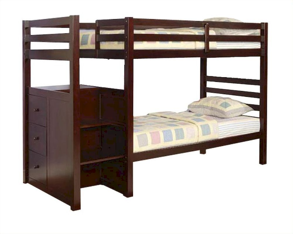 Espresso Twin Bunk Beds ~ Acme furniture twin over bunk bed in espresso ac