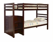 Acme Furniture Twin over Twin Bunk Bed in Espresso AC10180