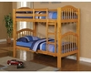 Acme Furniture Twin over Twin Bunk Bed in Honey Oak AC02359