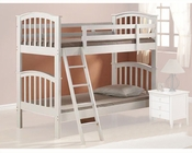 Acme Furniture Twin over Twin Bunk Bed in White AC02321