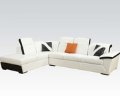 Acme Furniture White/ Black Sectional Sofa Sienna AC51625