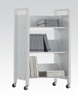 Acme Furniture White Bookshelf Cart AC92139