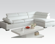Acme Furniture White Sectional Sofa Cleon AC51165