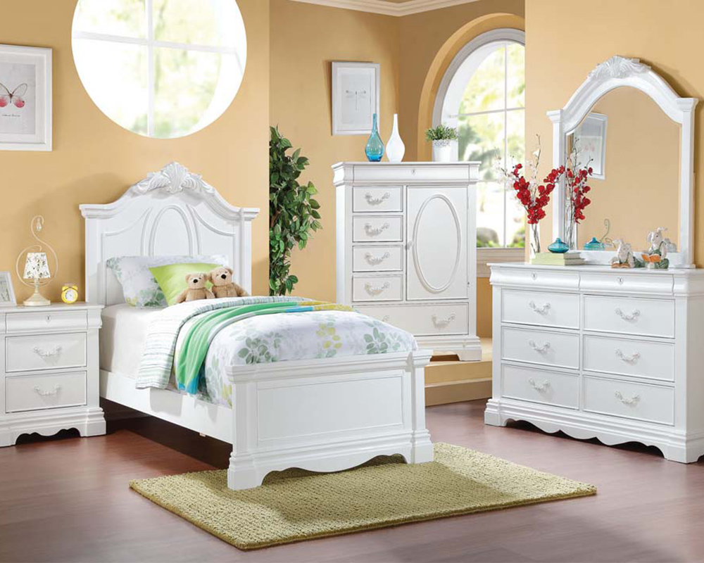 acme girl 39 s bedroom set estrella ac30240set. Black Bedroom Furniture Sets. Home Design Ideas