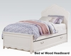 Acme Girl's White Bed Cecilie AC30300BED