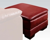 Acme Ottoman in Soho Cardinal Finish Jeremy AC50598
