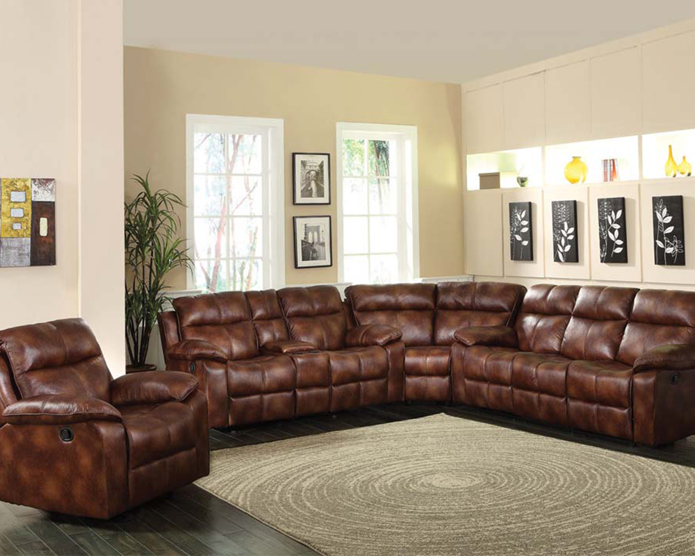 Acme Sectional Sofa In Light Brown Dyson Ac50815 Sec
