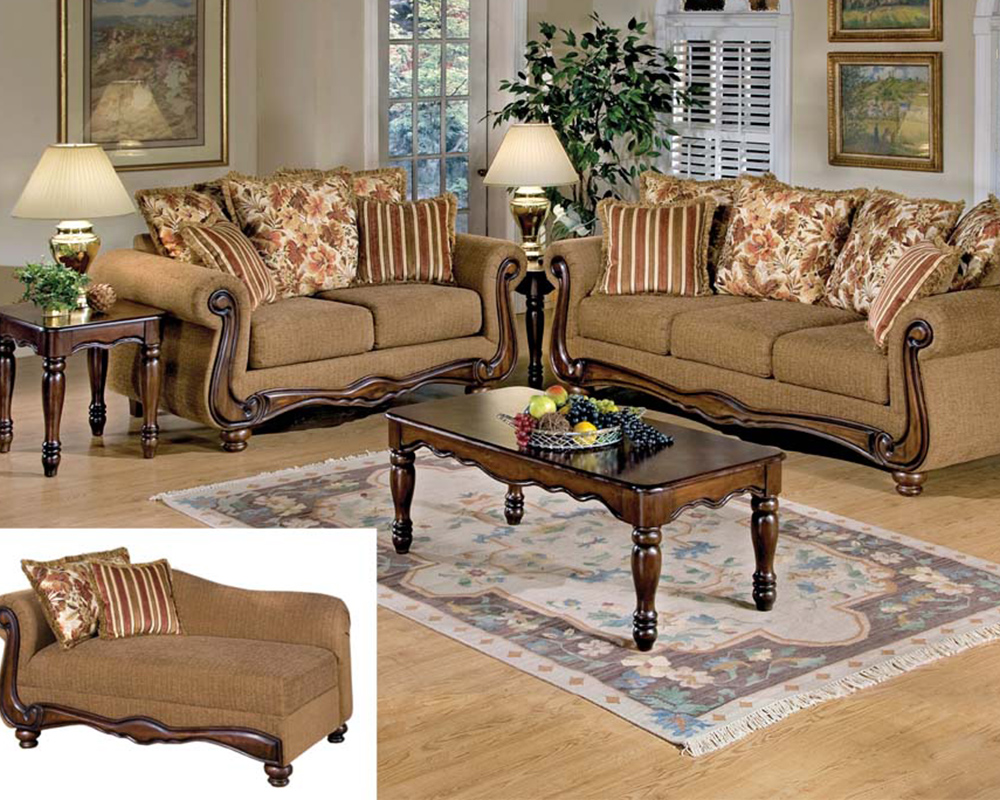 Awesome Acme Sofa Set In Brown Floral Olysseus Fabric Ac50310Set Gmtry Best Dining Table And Chair Ideas Images Gmtryco