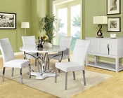 Acme White Dining Set Ezra AC71245SET