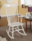 Acme White Finish Rocking Chair AC59298
