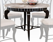 Acme White Marble Top Dining Table Lorencia AC70290