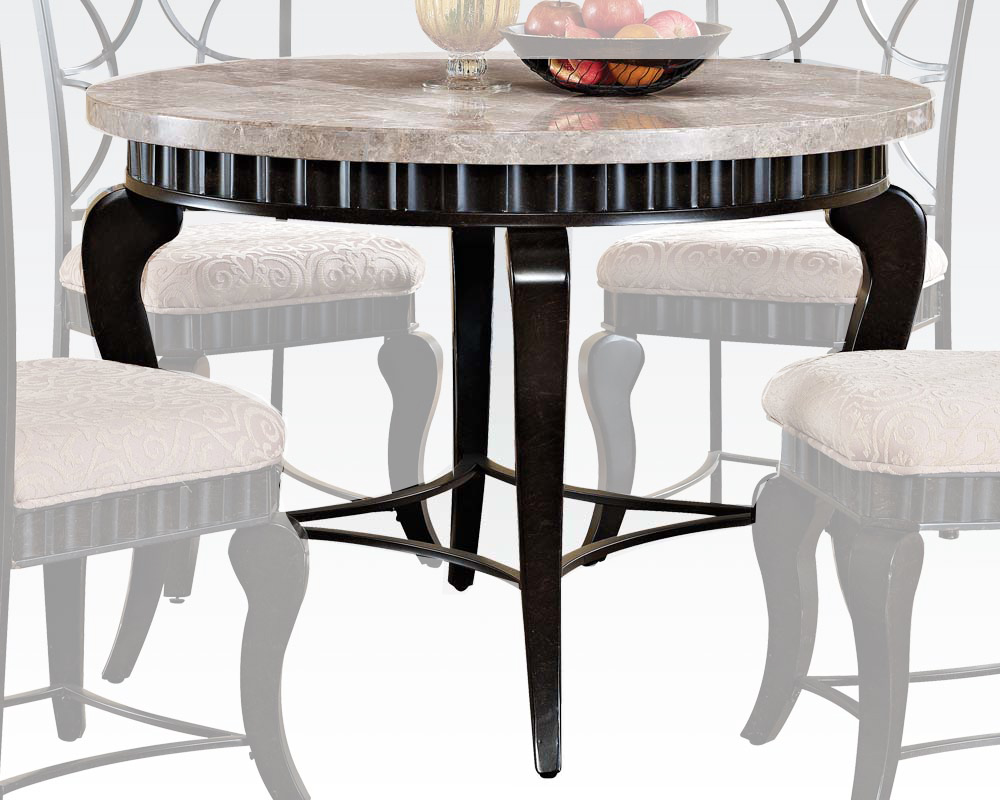 Acme white marble top dining table lorencia ac70290 - White marble dining tables ...