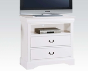 Acme White TV Console Louis Philippe III AC24507