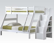 Acme White Twin/ Full Bunk Bed AC37155