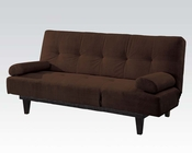 Adjustable Sofa in Brown Microfiber by Acme Furniture AC05855W-BR