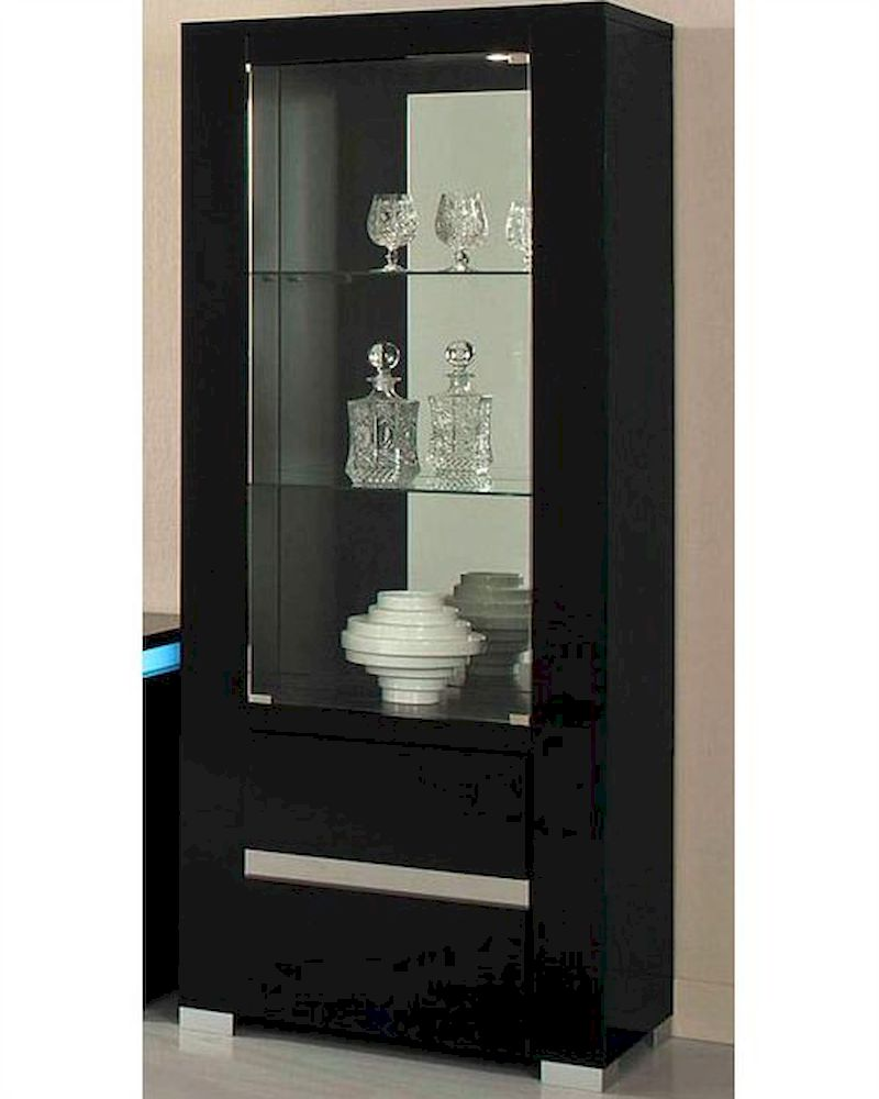 *Adriana Modern Black Display Cabinet 44DADRDC