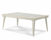 AICO 4 Leg Dining Table w/ Glass Inserts Beverly Blvd AI-06000-11