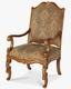 AICO Accent Chair Venetian ll AI-68834-GLDPK-28