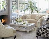 AICO After Eight Living Room Set in Lt Gold AI-19815LTGLD-Set