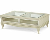 AICO After Eight Cocktail Table in Pearl Croc AI-19201-12