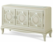 AICO After Eight console Cabinet in Pearl Croc AI-19223-12