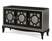 AICO After Eight console Cabinet in Titanium AI-19223-16