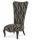 AICO Armless Chair in Black Color Beverly Blvd AI-06831-BLACK-88