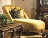 *AICO Armless Tufted Chaise Palais Royale AI-71841-BRGLD-35