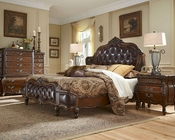 AICO Bedroom Set w/ Upholstered Headboard Lavelle Melange AI-540Set-L