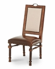 AICO Bella Cera Fabric Back Side Chair w/ Leather AI-38033-45
