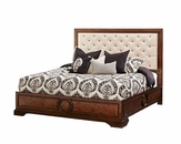 AICO Panel Bed w/ Fabric Tufted Headboard Bella Cera AI-38000PN2-45