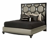 AICO After Eight Upholstered Bed in Black Onyx (3 pc) AI-19000BED-BLK