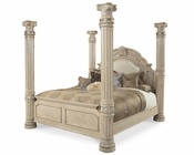 AICO Canopy Poster Bed Monte Carlo II in Silver Pearl AI-N5301-03