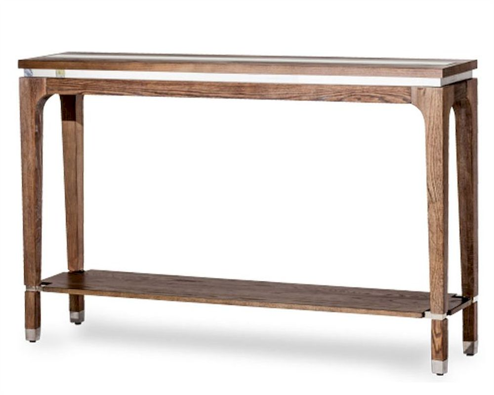 Aico console table biscayne west in haze color ai 80223 200 for Sofa table under 200
