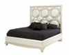 AICO After Eight Upholstered Bed in Creamy Pearl (3 pc) AI-19000BED-CP