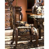 AICO Dining Arm Chair Oppulente In Sienna Spice AI 67004 52 Set Of 2