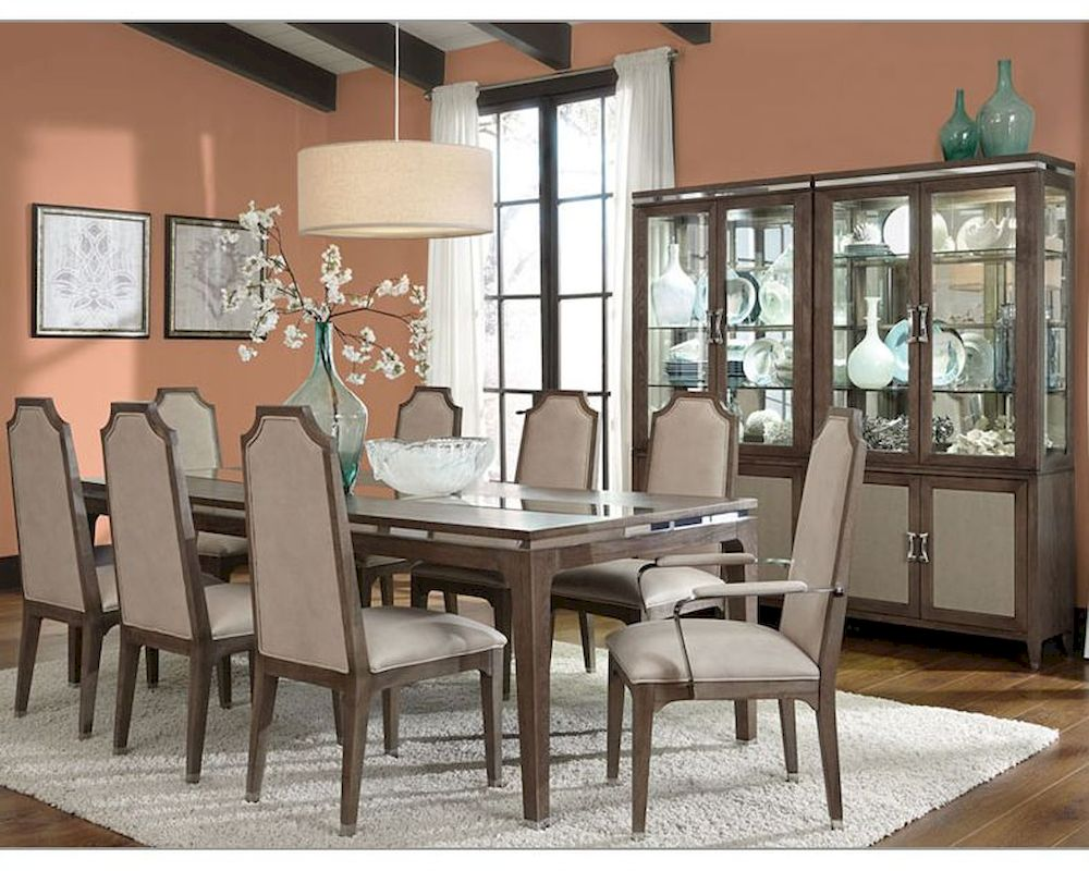 AICO Dining Room Set Biscayne West In Haze Finish AISET - Aico dining room set