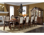 AICO Dining Set w/Trestle Table Tuscano AI-34002-34